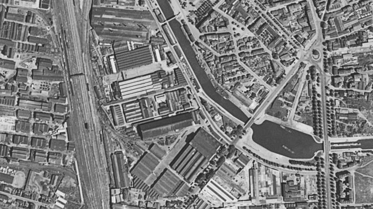 Photographie aérienne de Saint-Denis
