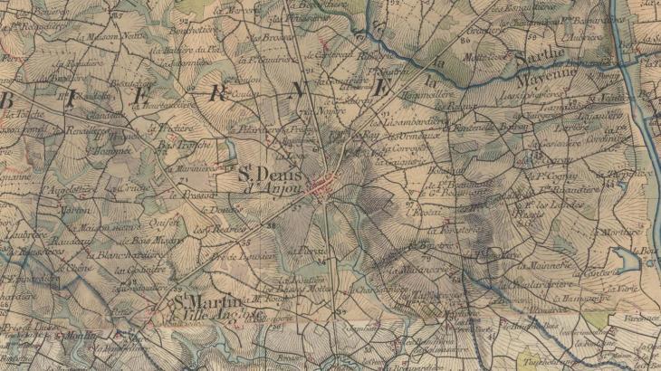 Carte de Saint-Denis-d'Anjou