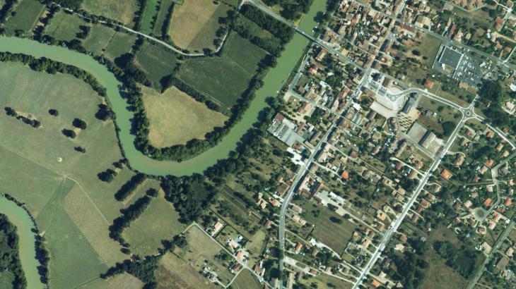 Photographie aérienne de Saint-Denis-de-Pile