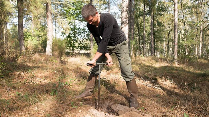 Technicien forestier sur le terrain